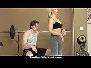 Dupa Antrenamentul La Salonul De Fitness Blonda Si-O Trage Cu Antrenorul